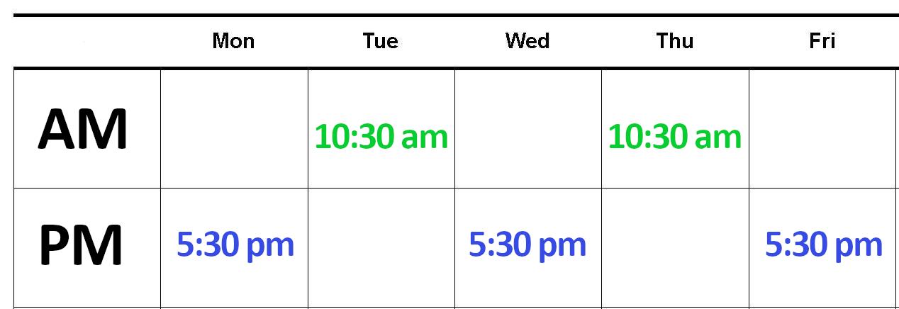 Boot Camp Long Beach CA Semi-Private Calendar